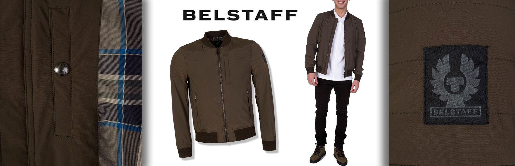 Staff Picks: Belstaff Military Green Stockdale Bomber Jacket (Zee Code 82971)