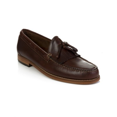 G.H. Bass & Co. Brown Leather Layton Tassel Loafers