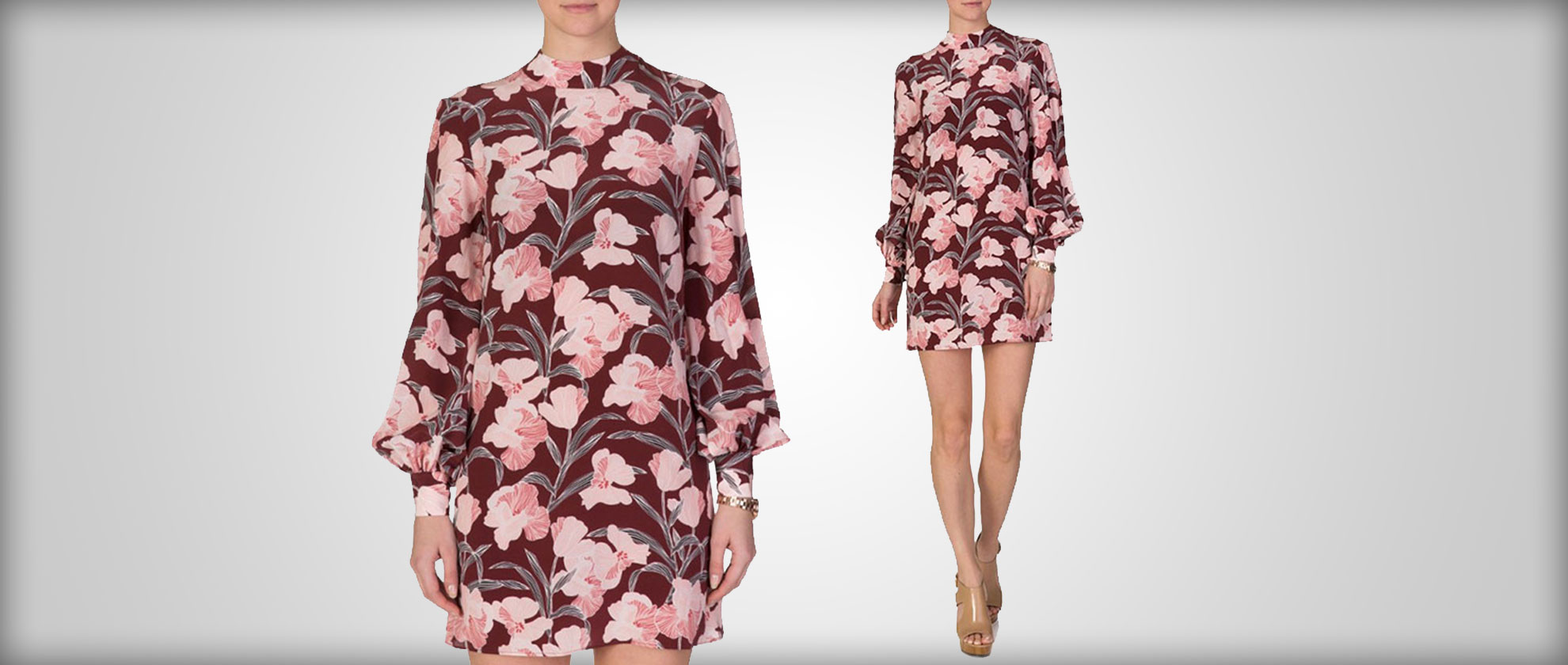 Staff Picks: Keepsake Burgundy Irreplaceable Floral Dress (70847)