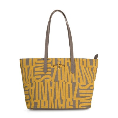 Vivienne Westwood Anglomania Yellow Jacquard Shopper Bag
