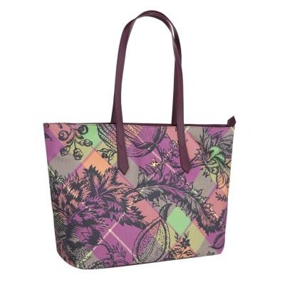 Vivinne Westwood Burgundy Multi Pattern Derby Haver Bag