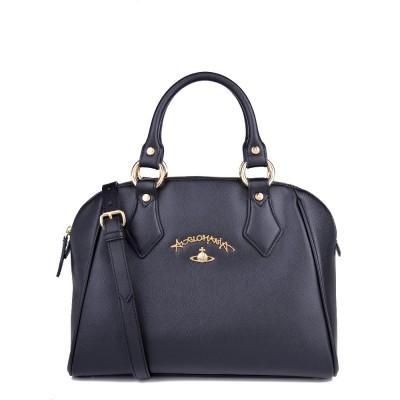 Vivienne Westwood Black Saffiano Divina Bag
