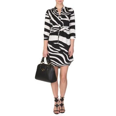 Diane Von Furstenberg Black Zebra Freya Dress