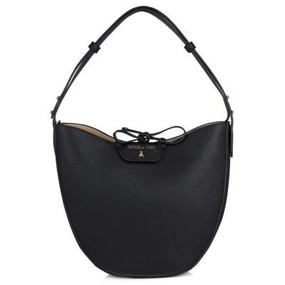 Patrizia Pepe Black Round Bucket Bag