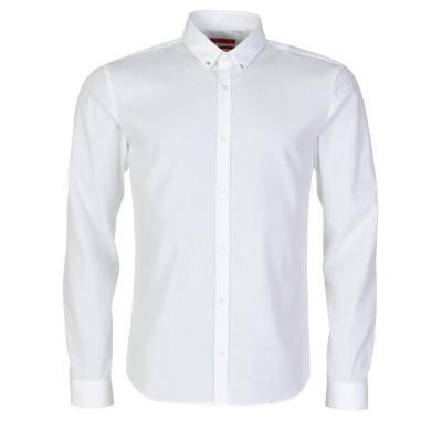 Hugo bu Hugo Boss White Ero Slim Fit Shirt