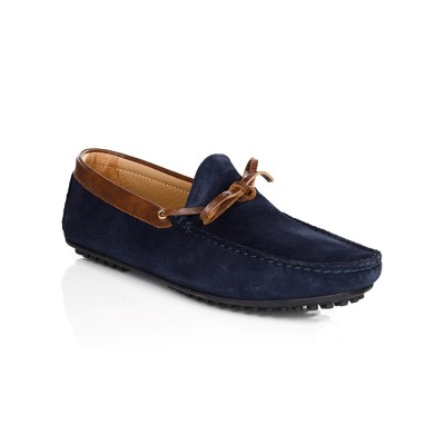 Bobbies Navy Suede Le Tombeur Shoes