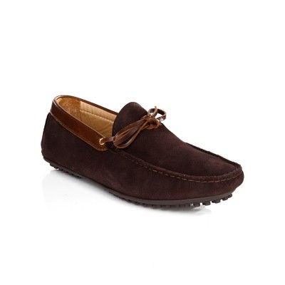 Bobbies Chocolate Brown Suede Le Tombeur Shoes