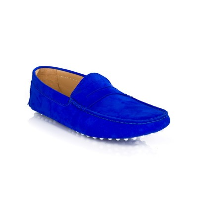 Bobbies Royal Blue Nubuck L'Elegant Shoes