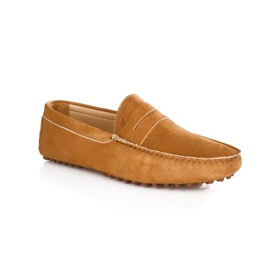 Bobbies Tan Nubuck L'Elegant Shoes