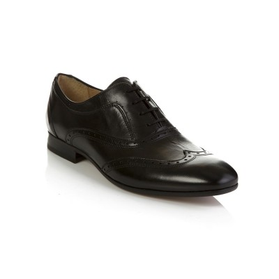 Hudson Black Francis Brogue Shoes