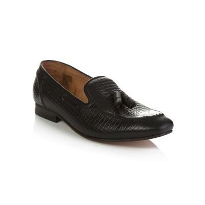 Hudson Black Pierre Tassel Loafers
