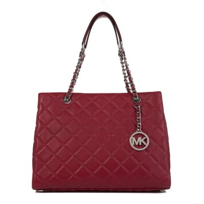Michael Kors Cherry Susannah Leather Tote Bag