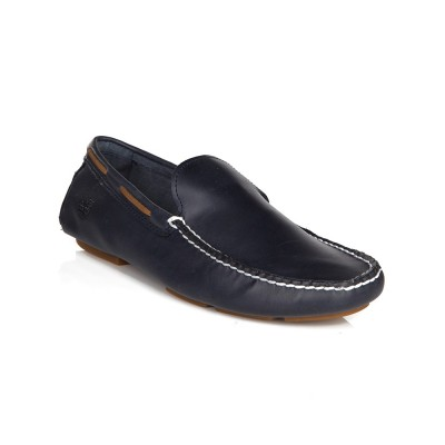 Timberland Navy Leather Slip-On Loafers