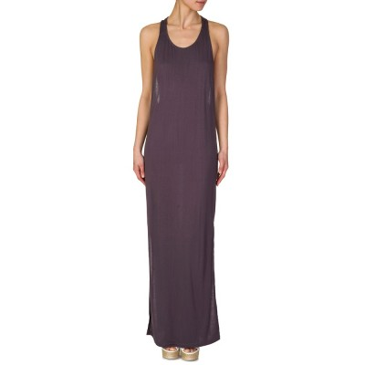 Religion Shark Grey Twisted Strap Maxi Dress