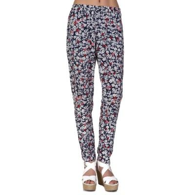 Velvet navy floral trousers