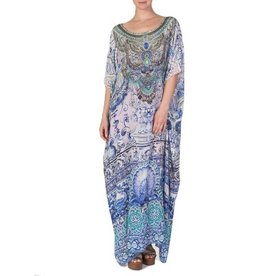 Camilla Blue Temptress of the Deep Kaftan Dress