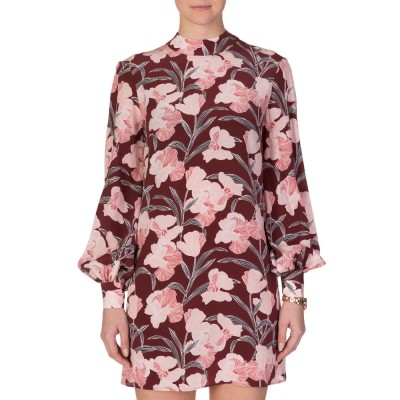 Keepsake Burgundy Irreplaceable Floral Dress