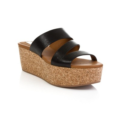 See By Chloe Black Lilly Wedge Sandals