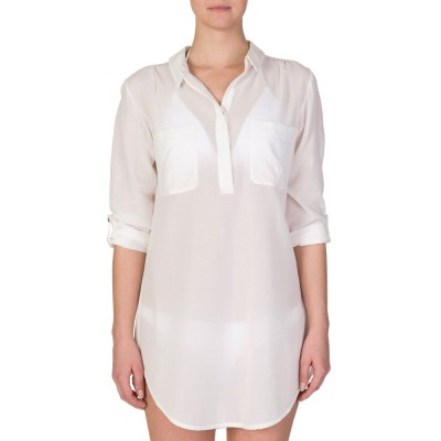 Heidi Klein White Oversized Tunic Shirt