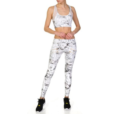 Varley White Gill Marble Crop Top