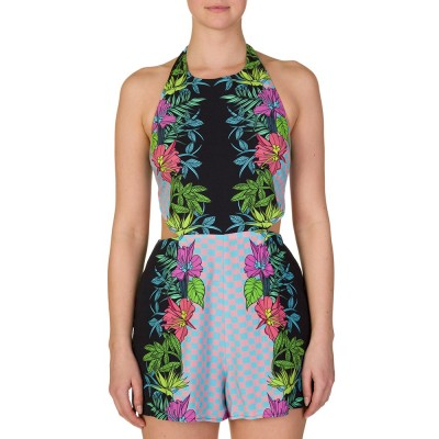 Mara Hoffman Multicoloured Tied Back Playsuit