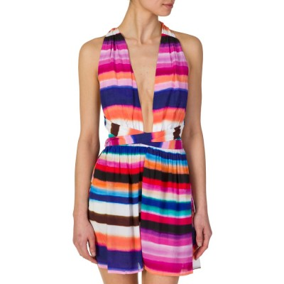 Mara Hoffman Multicolour Bubble Gum Stripe Playsuit