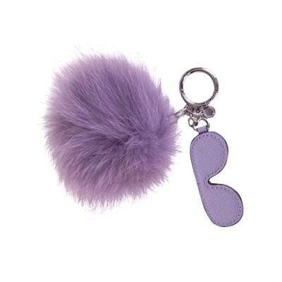 Michael Kors Lilac Shades Pompom Keyring