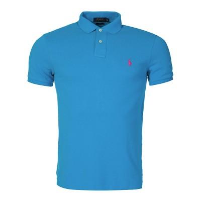 Polo Ralph Lauren Turquoise Slim Mesh Polo Shirt