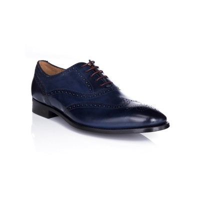 PS by Paul Smith Navy Christo Brogue Shoes