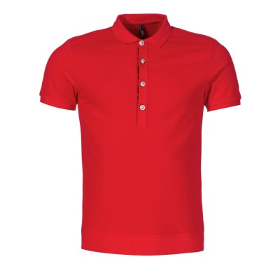 Versus Versace Red Lion Button Polo Shirt