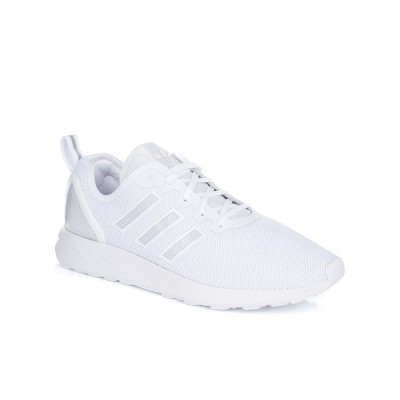 Adidas White ZX Flux ADV Trainers