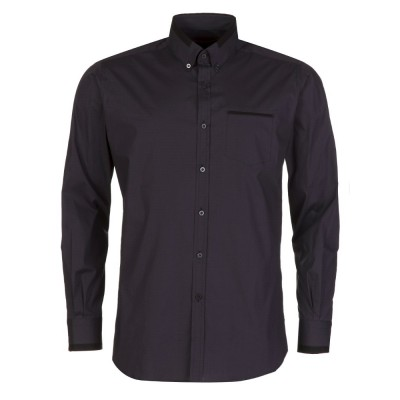 Lagerfield Charcoal Trim Collar Shirt