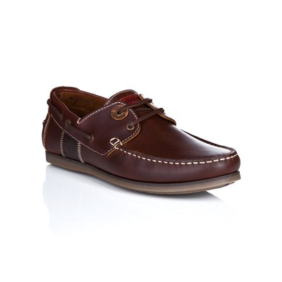 Barbour Mahogany Leather Capstan Boat Shoes