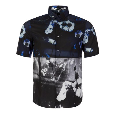 McQ by Alexander McQueen Navy Floral Short Sleeve Shirt