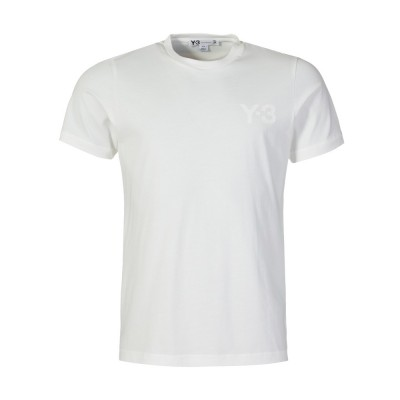 Y-3 White Crew Neck Logo T-Shirt