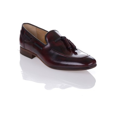 Hudson Burgundy Pierre Tassel Loafers