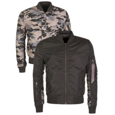 Alpha Industries Green Reversible Camo MA-1 Bomber Jacket