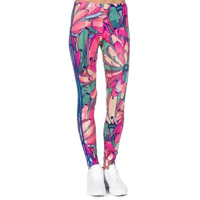 Adidas Pink Banana Print Leggings