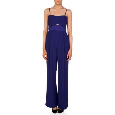 Diane Von Furstenberg Blue Valda Jumpsuit