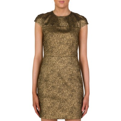Diane Von Furstenberg Gold Hadlie Mini Dress
