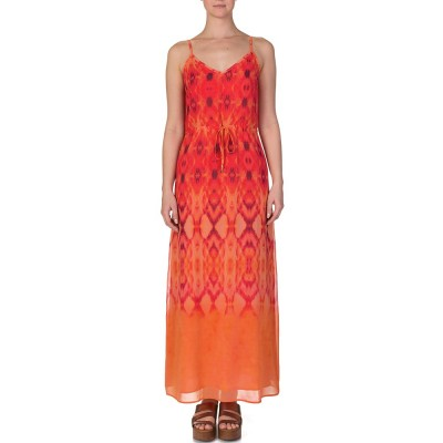 Heidi Klein Orange Patterned Maxi Dress