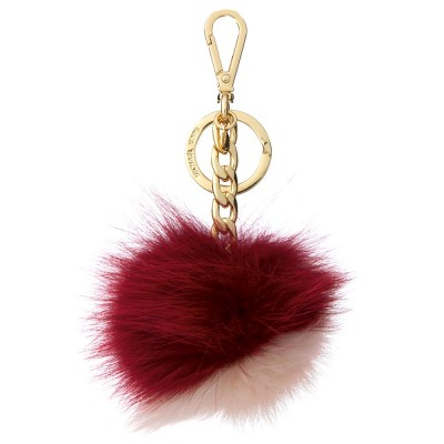 MICHAEL KORS CHERRY BI-COLOUR POM-POM KEYRING