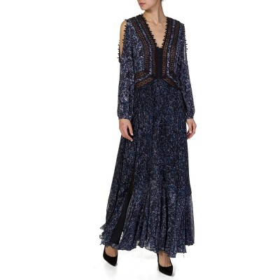 Rebecca Taylor Blue Printed Maxi Dress