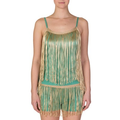 Ruth Erotokritou Mint Green Tassel Top