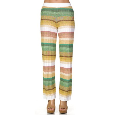 Ruth Erotokritou White Multi Pattern Beach Trousers