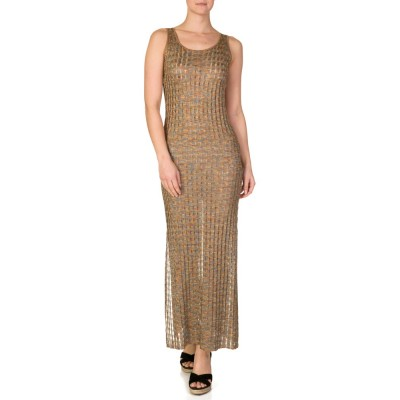 RUTH EROTOKRITOU BRONZE TONED LINED DRESS