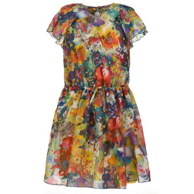 Stella McCartney Kids Multicoloured Bright Floral Nellie Dress