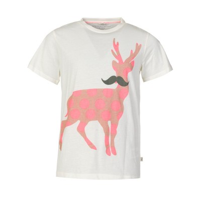 Stella McCartney Kids Cream Arlo Deer T-Shirt