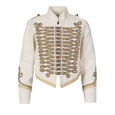 STELLA MCCARTNEY KIDS CREAM MILITARY JACKET