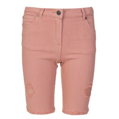 STella McCartney Kids Pink Destressed Kennedy Denim Shorts
